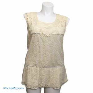 CATO sleeveless lace top. Size 18/20W